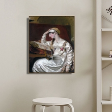 Reading Girl by Edward Lawrence Wall Art Canvas Poster and Print Painting Decorative Picture for Living Room Home Decor