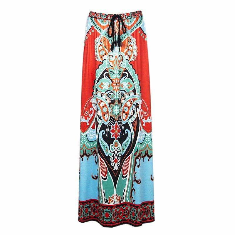 Fits 25 - 45 Waist African Boho Print Beach Maxi High Waist Skirts