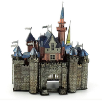 POPIGIST 3D Metal Puzzle Sleeping Beauty Castle DIY Building Model Architecture Jigsaw Kids Education Child Toys