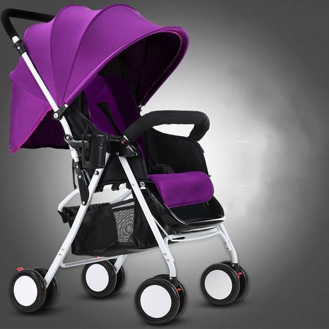 Portable folding baby trolley sitting lying baby cart shockproof children troller
