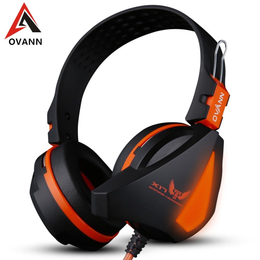 OVANN X17 Gaming Stereo Headset Auriculares Bass Auricular Sobre la Oreja de 3.5