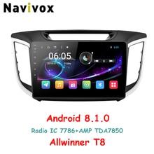 Navivox 10.1 «2 Din Автомобильный мультимедийный плеер GPS-радио Android 8.1.0 для Hyundai IX25 CRETA с навигацией стерео аудио (без DVD)