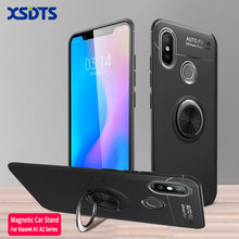 For Xiaomi MI 5X 6X Case For Xiaomi A1 A2 Lite Car Holder Stand Magnetic Bracket TPU Case For Xiaomi Note 3 Funda Coque Capa(China)
