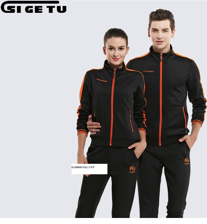 2018 New Spring And Autumn Outdoor Sport Suit Woman And Man 2pcs Lovers Clothes Sweatshirt Tracksuit Running Suit