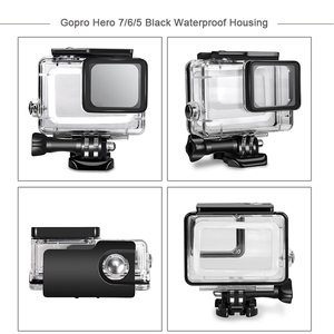 Image 2 - Gopro/go pro hero 용 husiway 액세서리 키트 7 6 5 gopro hero 용 방수 하우징 세트 5 6 7 블랙 카메라 55a