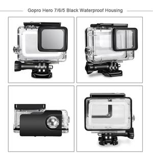Image 2 - Husiway Phụ Kiện Kit cho Gopro/Go pro hero 7 6 5 Không Thấm Nước Nhà Ở Set cho Gopro hero 5 6 7 màu đen Máy Ảnh 55A