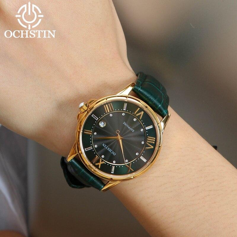 2018 femmes montres marque de luxe célèbre en cuir véritable japon mouvement montre-bracelet à Quartz femme automatique Date horloge Relogio Feminino - 6