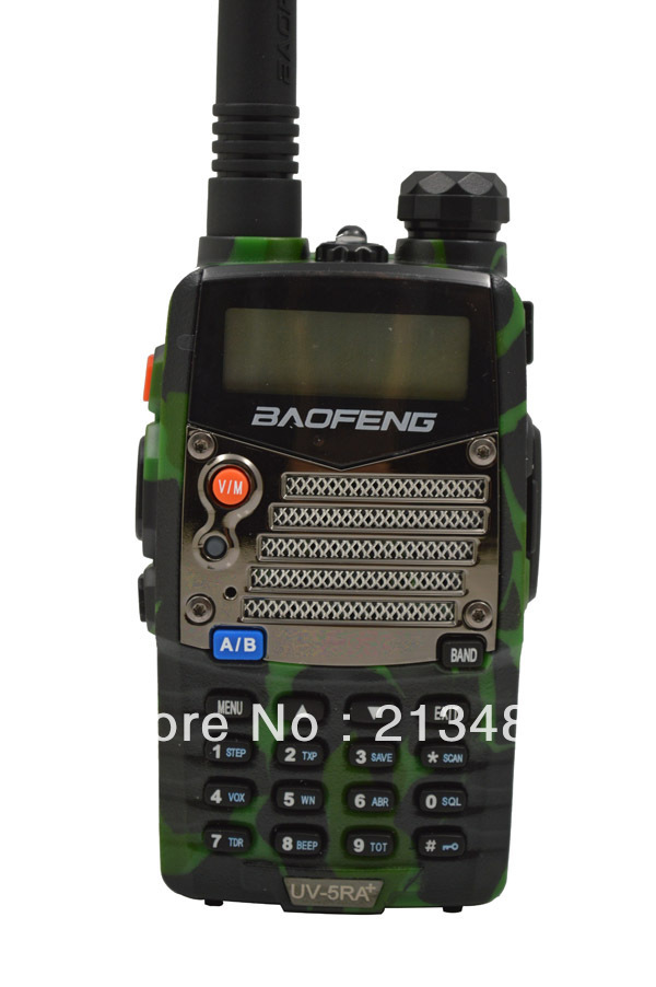 Baofeng UV-5RA+ Plus 136-174MHz(RX/TX) & UHF400-470MHz(TX/RX) Dual Band 4W/1W 128CH FM 65-108MHz With Free Earphone