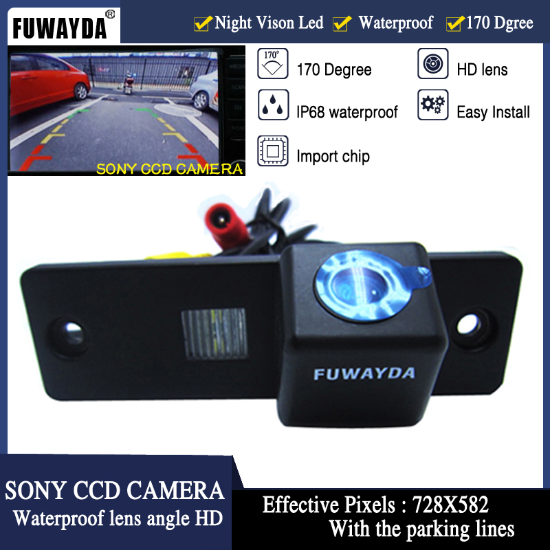 FUWAYDA Free Shipping SONY CCD Chip Car Rear View Reverse Mirror Image With Guide Line CAMERA For TOYOTA HIACE / Fortuner / SW4