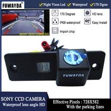 Fuwayda Бесплатная доставка Sony ПЗС автомобиля зеркало заднего вида изображение с Руководство Line камера для Toyota Hiace/ fortuner/SW4