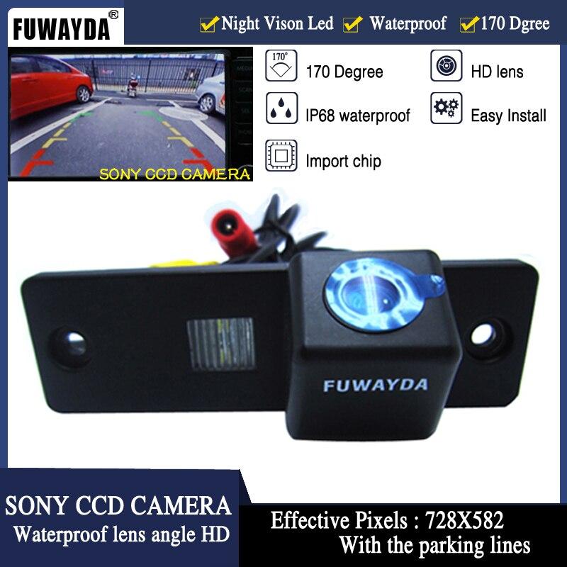 FUWAYDA Spedizione Gratuita SONY CCD Chip Retrovisione di Inverso Dello Specchio immagine Con Linea Guida per TOYOTA HIACE/Fortuner/SW4