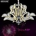 Роскошный хрустальный подвесной светильник с цветами  Хрустальный потолочный светильник для столовой  спальни  Подвесная лампа  современн...