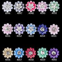 4046-4060 Nouveau 100 pièces paillettes Acrylique grandes fleurs strass nail art charmes pour les ongles décorations fournitures