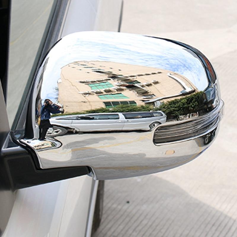 Car Abs Chrome Side Door Mirror Covers Rear View Mirror Trim Frames