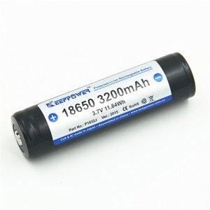 Image 2 - 2 adet KeepPower 3200mAh 18650 korumalı li ion şarj edilebilir pil 3.7V P1832J drop shipping orijinal