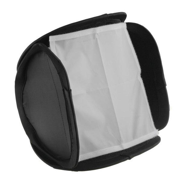 23 cm x 23 cm Universal Tragbare Softbox Blitz-diffusor für 580EX 430EX 600EX Canon Nikon Pentax Kamera Studio Licht zubehör