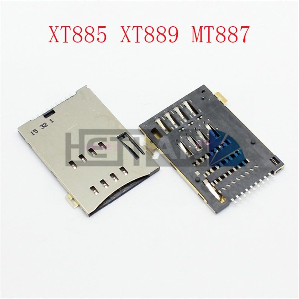 1Pcs SIM Card Reader Holder Socket Tary Connector For Motorola Moto XT885 XT889 MT887