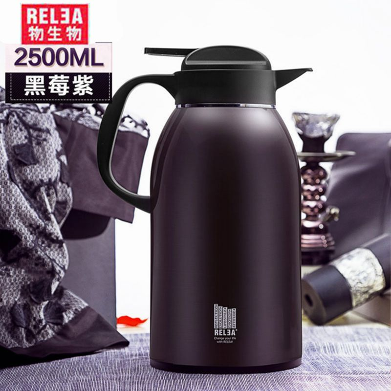 2 2L high quality large household jug stainless steel vacuum double layer hot cold flask tea