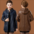 Women Leather Jackets Plus Size L-6Xl Genuine Winter Leather Jackets Sequins With Hooded Women Leather Coats Autumn A2558