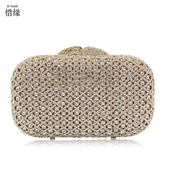 Cristal Parti Strass Or 2 Soirée Mariée Mini Femmes Embrayage Xiyuan Bourse gold 1 2 Mariage Gold Main Sac Marque silver À Embrayages Sacs De Dames Dîner 1 silver ngwqEq86xt