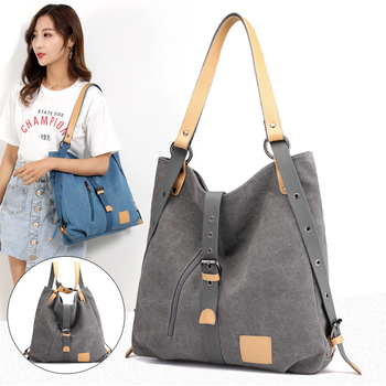 Women Fashion Casual canvas Tote Handbag Multifunctional Female Bag High Quality Shoulder Bag