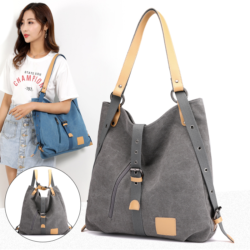 Brand Women Fashion Casual Canvas Tote Handbag Multifunctional Female Bag Mochila  Double Shoulder Bag