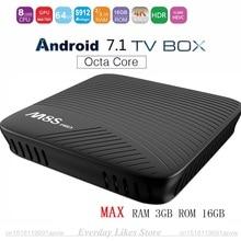 MECOOL M8S PRO Android 7.1 Smart TV Box Max RAM 2 GB/3 GB DDR4 16 GB Amlogic S912 64 Peu Octa Core UHD 4 K 2.4G/5G WiFi Set-top boîte