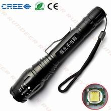 Tactical 6000 Lumen LED lanterna CREE T6 Lámpara 5 modo 18650 Zoomable de la Linterna Universal envío libre