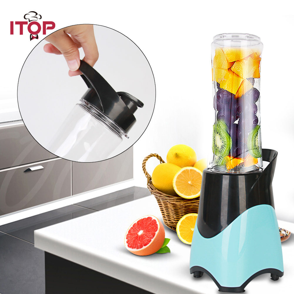 Personal Blender With Travel Cup Mini Juicer Blender Portable  Maker Fruit Mixing Machine 220V 300W