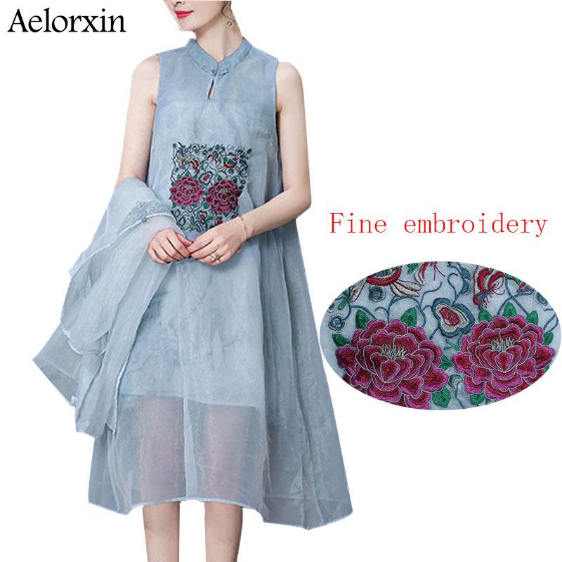 Aelorxin 2019 Φόρεμα Γυναίκες Καλοκαίρι Δύο - Γυναικείος ρουχισμός - Φωτογραφία 1