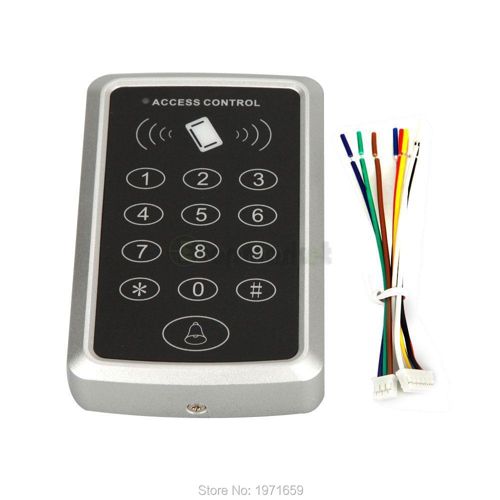 RFID Proximity entry lock door access control system Keypad 125KHz EM ID card Access Controller for home security wg26 34 em id card reader 125khz door access control system with keypad for rfid card waterproof f1710a