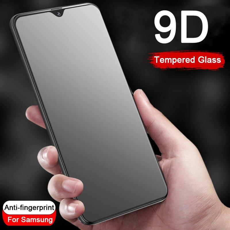 9D Anti-fingerprint screen protector for Samsung Galaxy A6 A8 Plus A9 2018 A9s A10 A20 A30 A40 A50 A70 Protective Tempered Glass