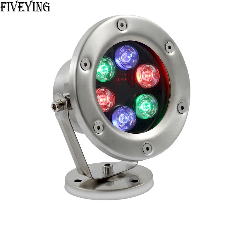 AC 12V RGB LED Underwater Lamp 3W 6W 9W 12W IP68 Waterproof Swimming Pool Fountain Pond changeable color LED Light Lamp