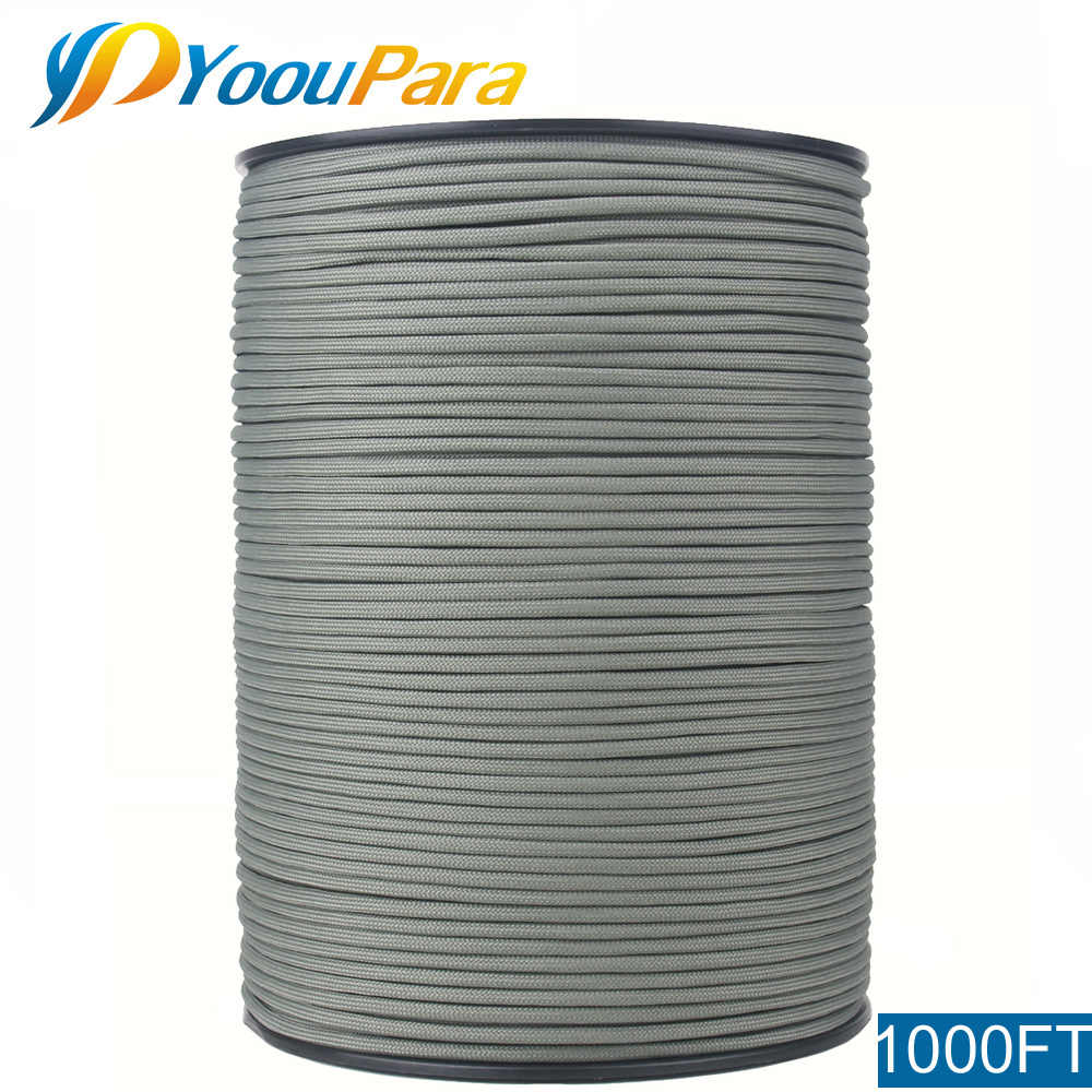 "YoouPara 1000FT 550 Paracord Cord typ III 7 Strand 5/32 ""(4mm) średnica Nylon wojskowy Survival Cordage Wholesal"