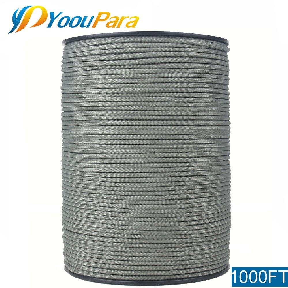 YoouPara 1000FT 550 corde Paracord/Parachute Type III 7 brin 5/32