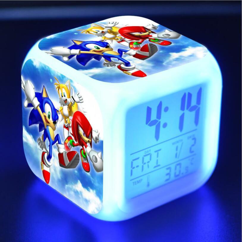 Sonic The Hedgehog LED Cube Alarm Clock 24