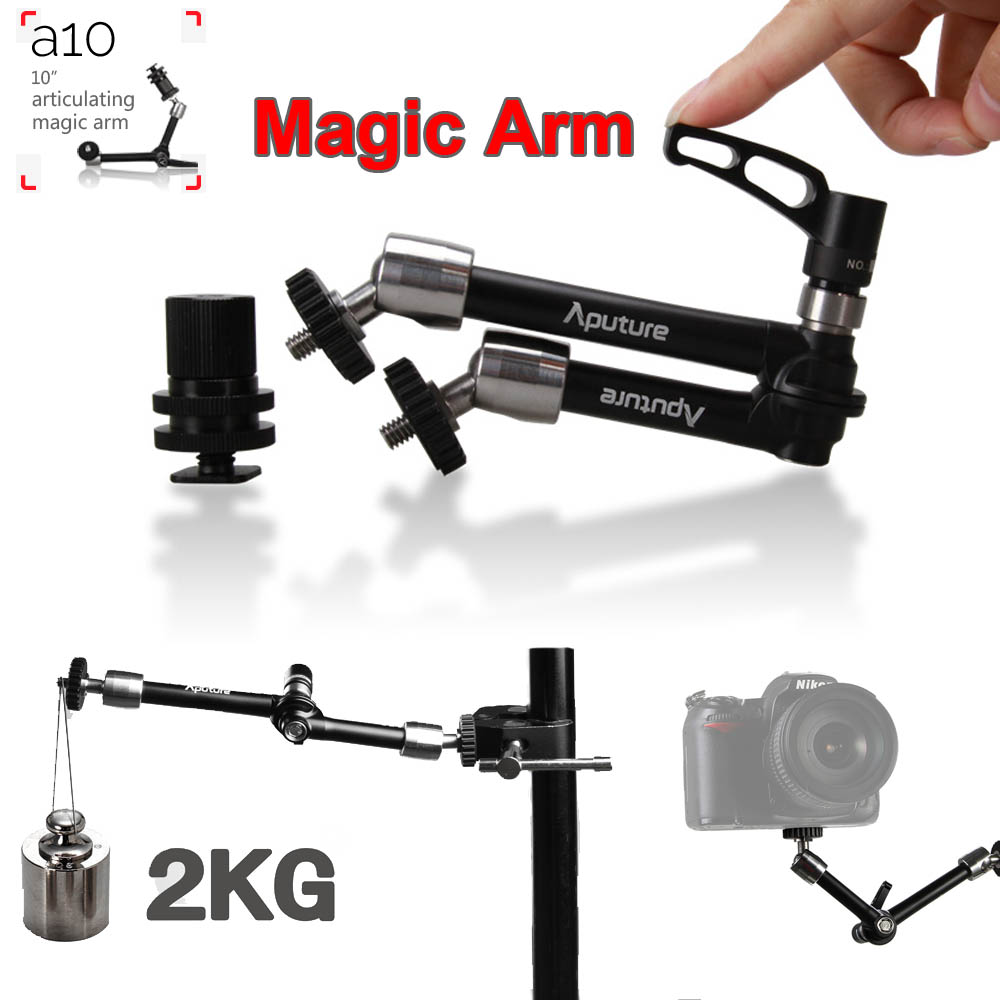 New Aputure A10 10 Pro Multi-function Articulating Magic Arm for LED Video Light DSLR Camera Microphone Mount LCD Field Monitor aputure vs 5 7 inch sdi hdmi camera field monitor with battery sun hood 11 magic arm rgb waveform vectorscope histogram zebra