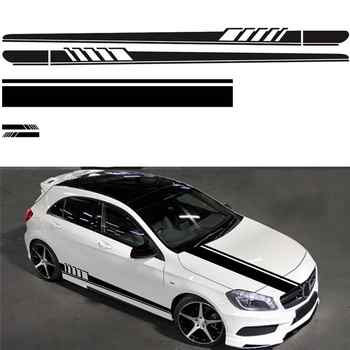 Universal Car Styling Auto DIY Car Stickers Full Auto Body Decals Vinyl Side Long Stripe Waterproof Self Adhesive Stickers - DISCOUNT ITEM  29% OFF All Category
