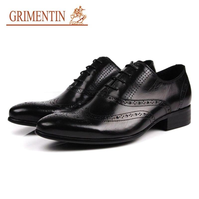 GRIMENTIN dress shoes oxfords shoes fashion formal business shoes genuine leather male shoes italian dress business oxfords fashion formal blue men dress shoes genuine leather luxury wedding male shoes white suit shoes