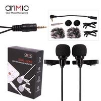 Ulanzi AriMic м 6 м Dual-Head Lavalier нагрудные клип на микрофон для лекции или интервью для смартфона и планшеты