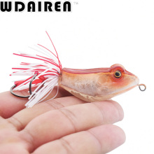 High Quality Kopper Live Target ABS Frog Lure 5cm 12g Snakehead Lure Topwater Simulation Frog Fishing Lure 3D hard Bass Bait