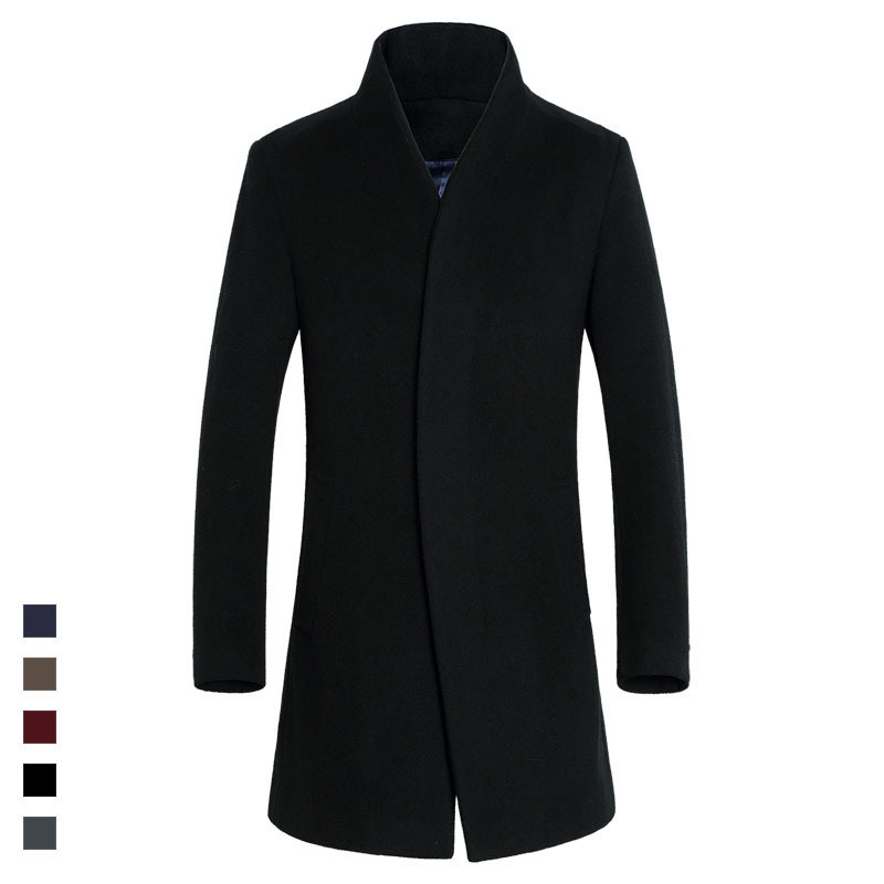 Autumn and Winter New Men 39 s Long Business Wool Coat Jackets Men Winter Cashmere Jacket Casual Woolen Overcoat blousons homme in Wool amp Blends from Men 39 s Clothing