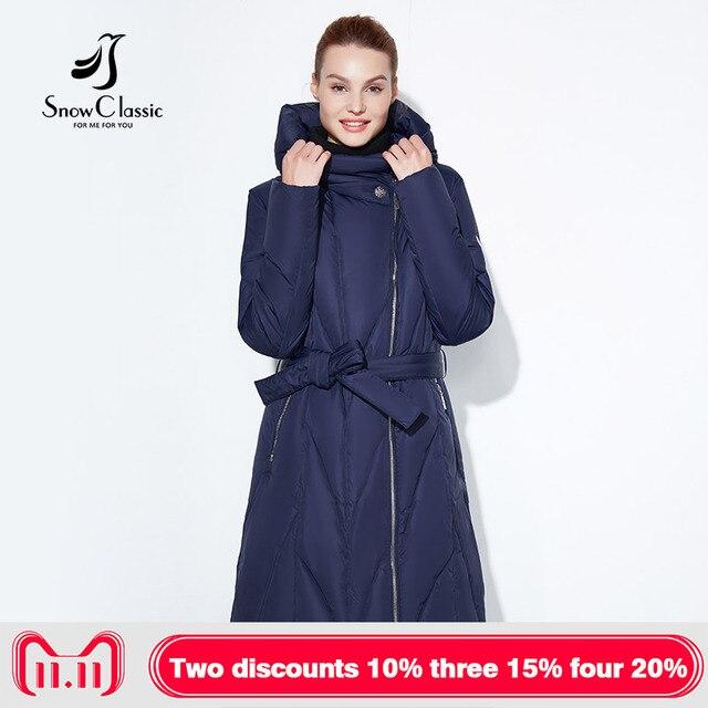 Зимние классические 2017 Зима плюс жира, чтобы увеличить код толстые теплые женские холодном пальто хлопка ремень поясной Длинные молния шляпу куртка