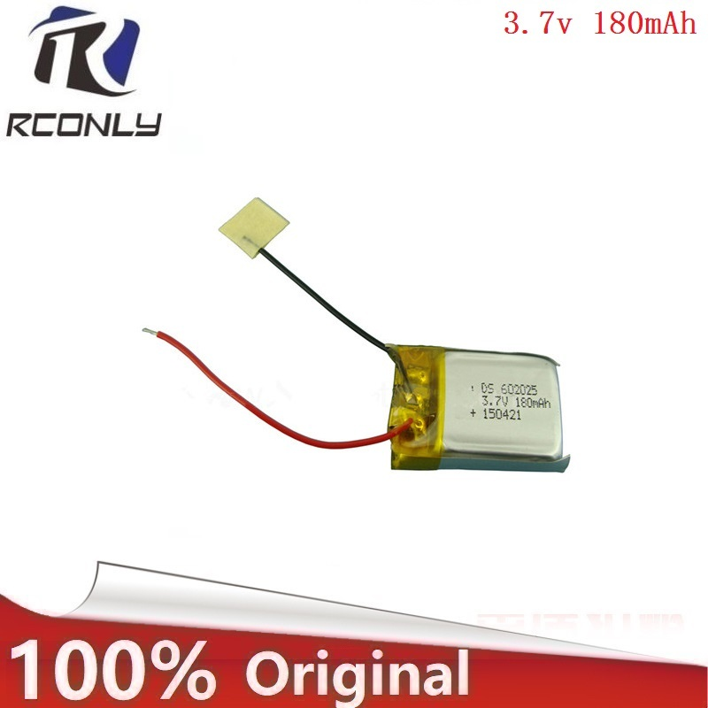 3.7V 180mAH 2pcs /lot remote control helicopter remote control aircraft accessories Lipo battery 3.7 V 180 mAH 602025 Z008 remote control aircraft uav small monster mjx b3 battery 2pcs 7 4v 1800mah lithium battery and 2 in 1 charger