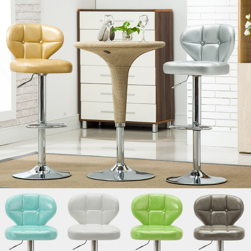 Minimal Nordic Style Bar Chair Increase Backrest Rotating Lift Chair High Home Bar Chair Table Stool Round Stool Cashier Stool