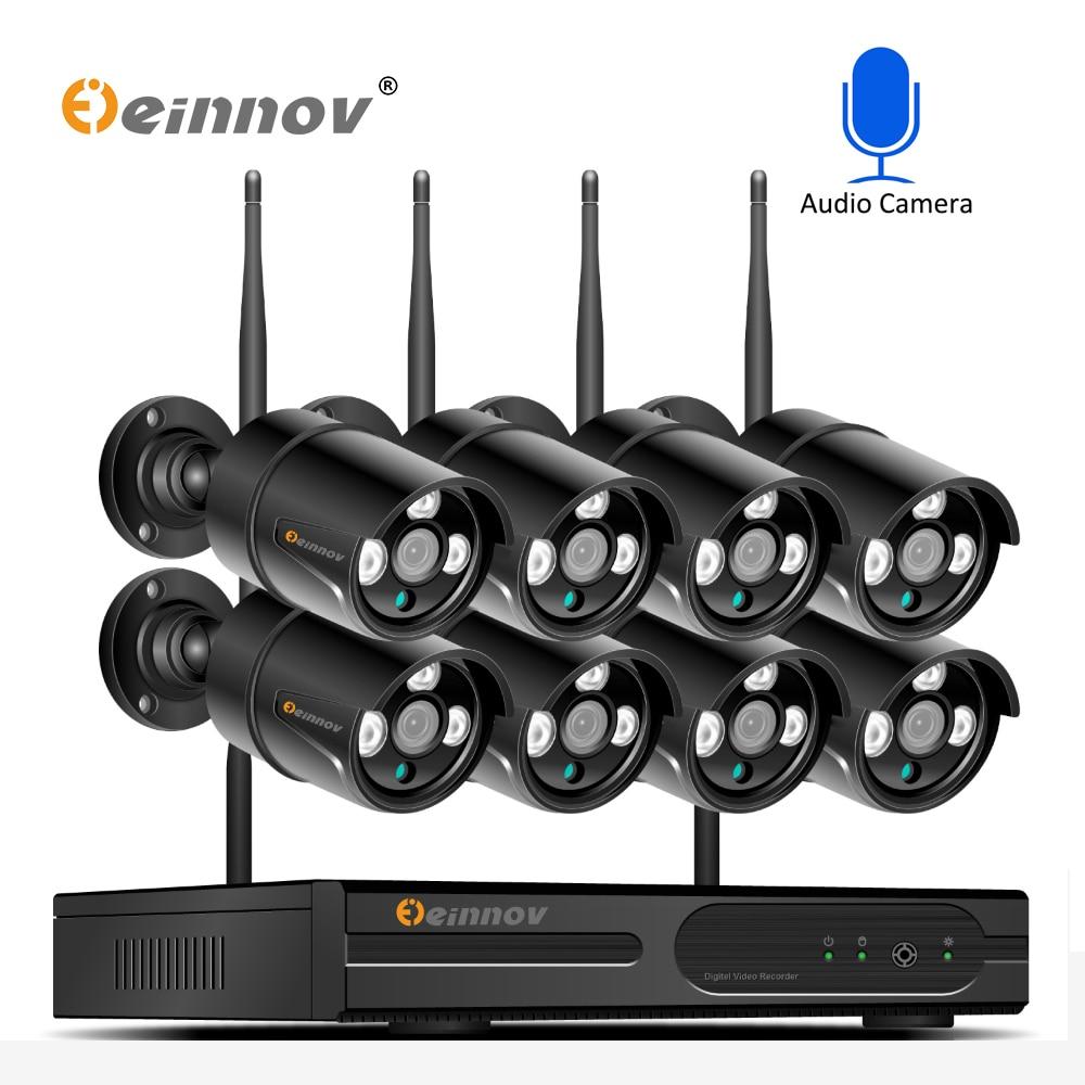 HD Sans Fil système cctv 8CH 1080 P NVR de Sécurité 2MP Audio Extérieure Étanche Wifi IP Caméra P2P Vidéo kit de surveillance 2 TB HDD