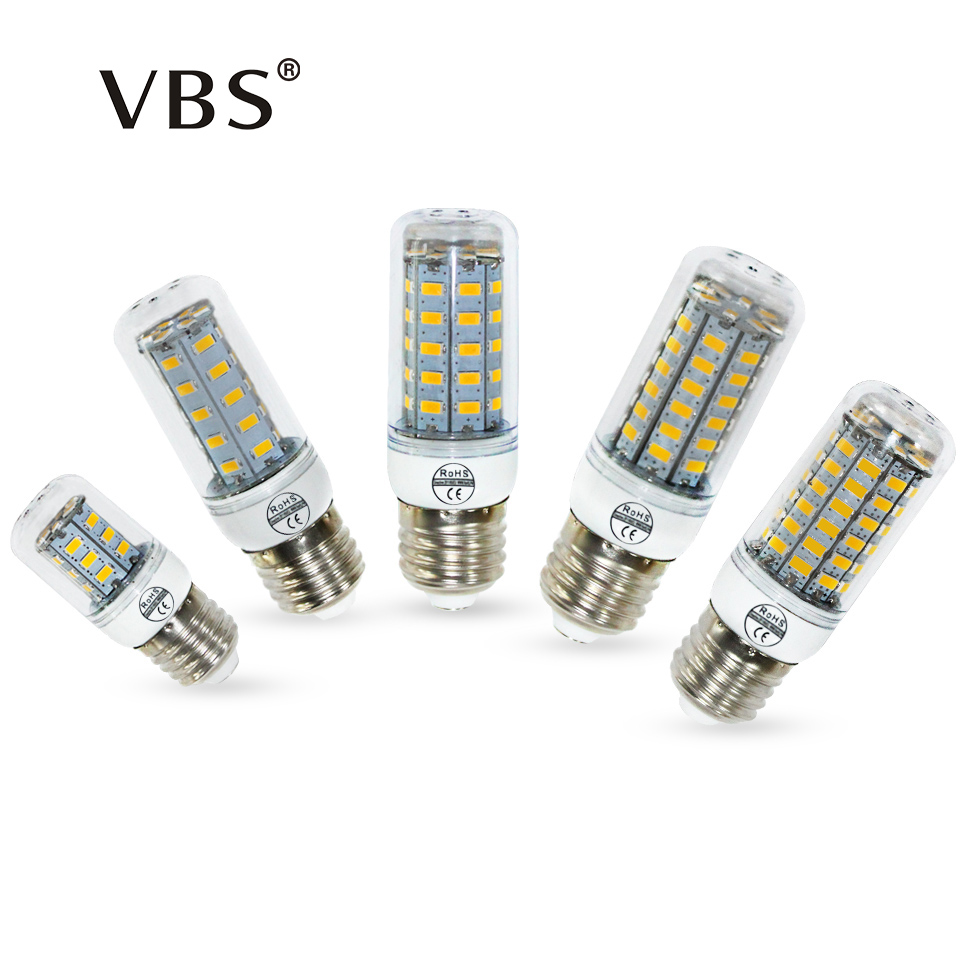 Buy E27 Bulbs Corn Led Lights Smd5730 220v 24 36 48 56 69leds E14 Led Corn Bulb