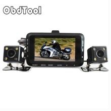 Motorcycle DVR DC 12V-24V Dual Lens Car Camera Rear View 3″ 140 Degree Motor Video Recorder Dash Cam Motor Accessories W6