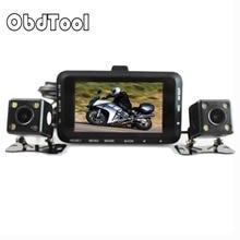 Motorcycle DVR DC 12V-24V Dual Lens Car Camera Rear View 3″ 140 Degree Motor Video Recorder Dash Cam Motor Accessories W6