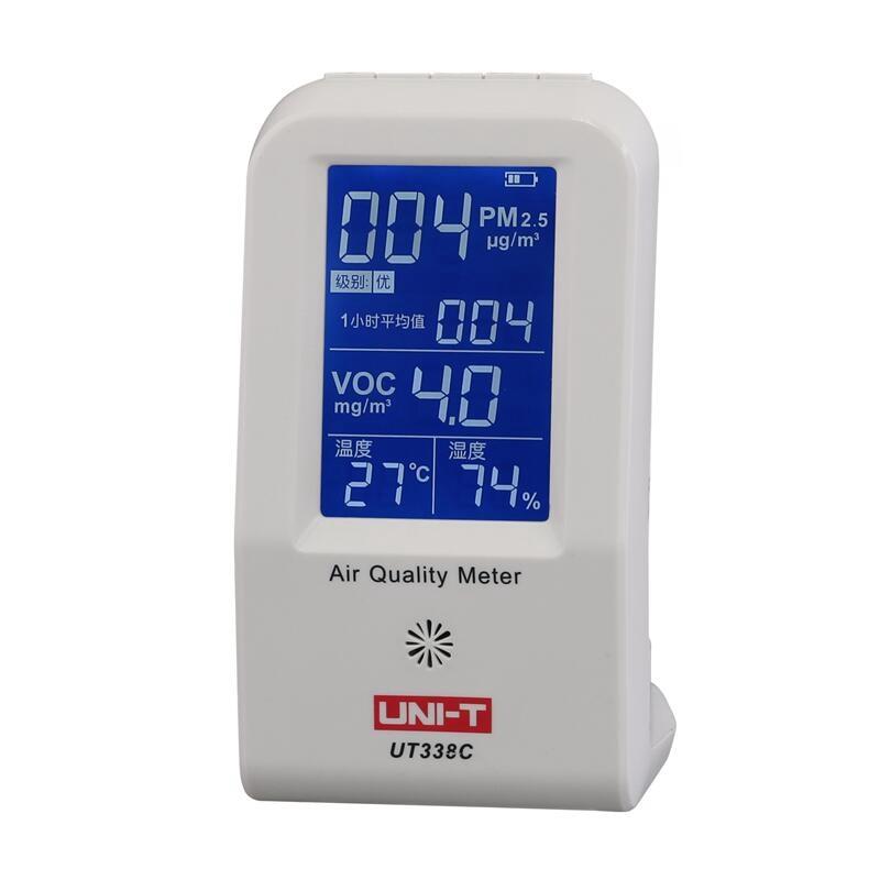 UNI-T UT338C Digital Formaldehyde Detector Meter Air Quality   HCHO &  Voc Pm2.5 Data Logger Thermometer Gas AnalyzerUNI-T UT338C Digital Formaldehyde Detector Meter Air Quality   HCHO &  Voc Pm2.5 Data Logger Thermometer Gas Analyzer
